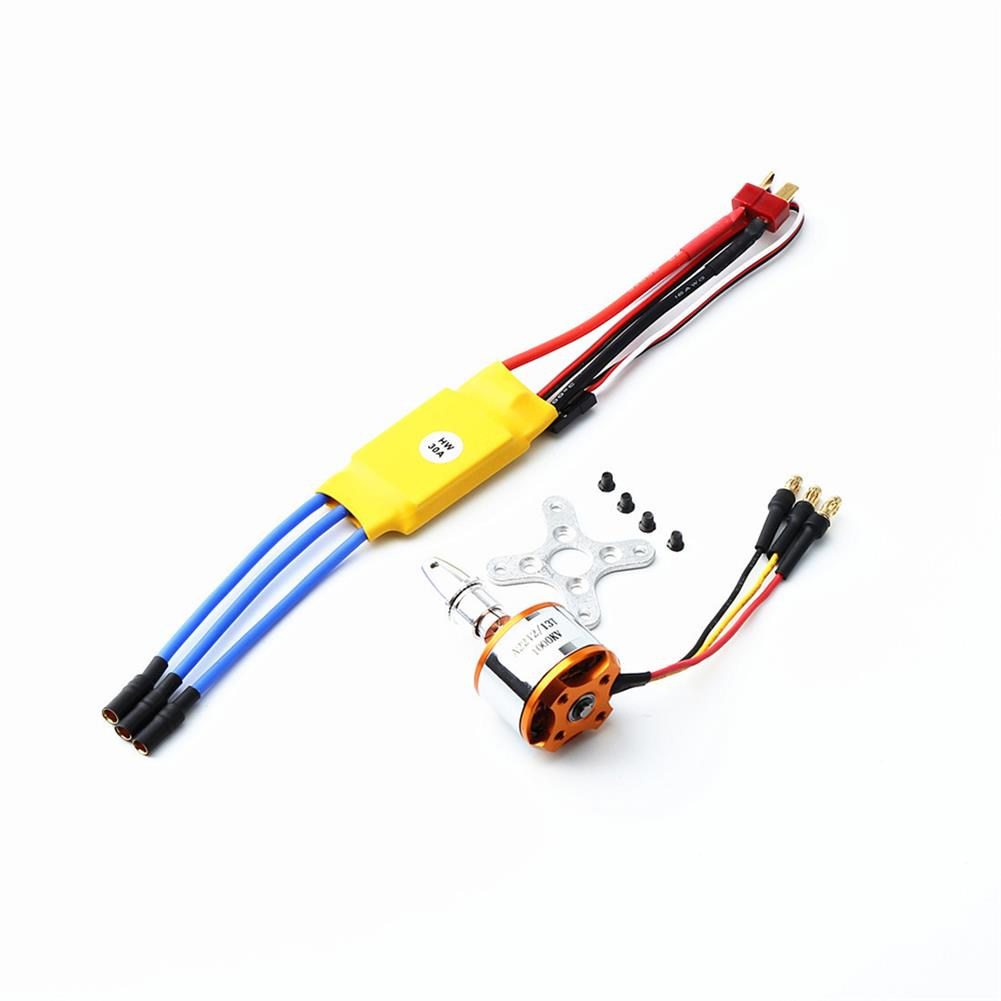 rc-airplane-parts XXD 2212 KV1000 Brushless Motor+1060 Propeller*2+9g Servo*2 40A Brushless ESC RC Power System Combo for RC Airplane Racer Drone HOB1669855 2