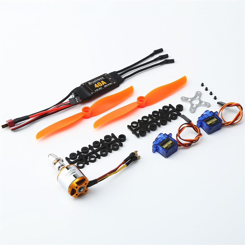rc-airplane-parts XXD 2217 KV2300 Brushless Motor+6035 Propeller Blade*2+9g servo*2+40A ESC RC Power System Combo for RC Airplane Racing Drone HOB1669884