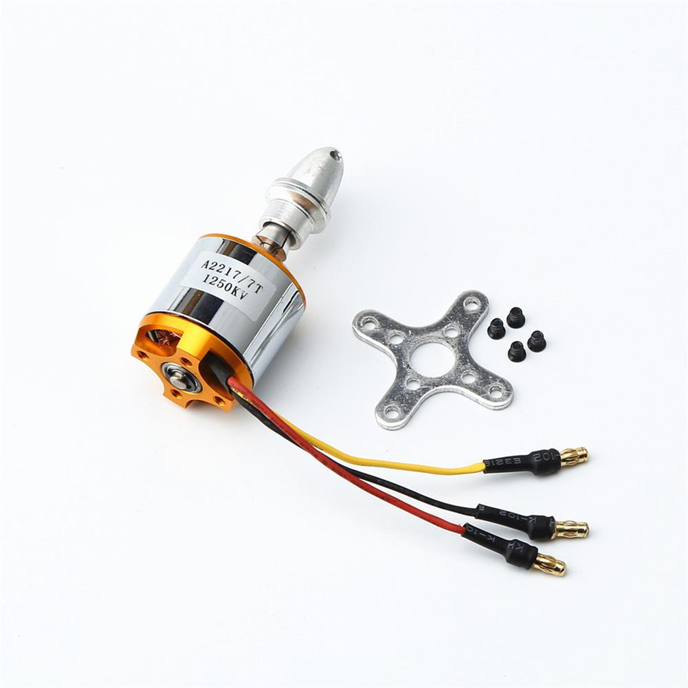 rc-airplane-parts XXD 2217 KV1250 Brushless Motor+8060 Propeller Blade*2++9g Servo*2+40A ESC RC Power System Combo for RC Airplane Racing Drone HOB1669985 2