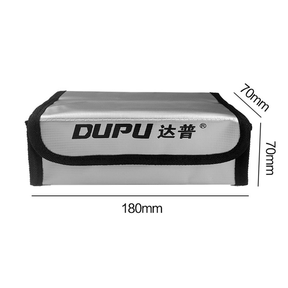 battery-charger DUPU Explosion-proof Fireproof Safe Storage Bag 70X70X180mm for RC LiPo Battery HOB1670046 3