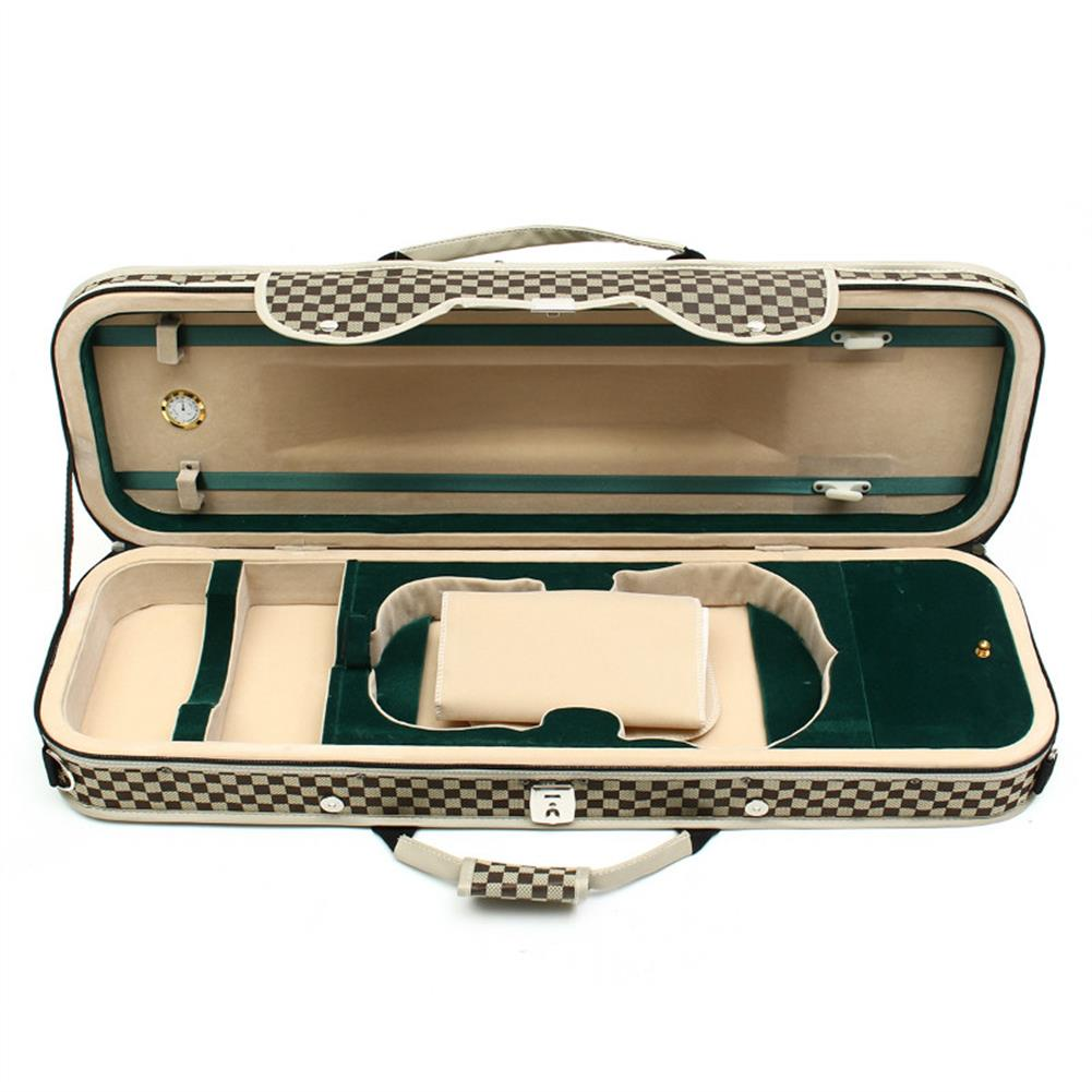 strings-accessories 4/4 Acoustic Violin Case Fiddle Strap Box with Hygrometer Oblong Carry Case Storage HOB1670284 1