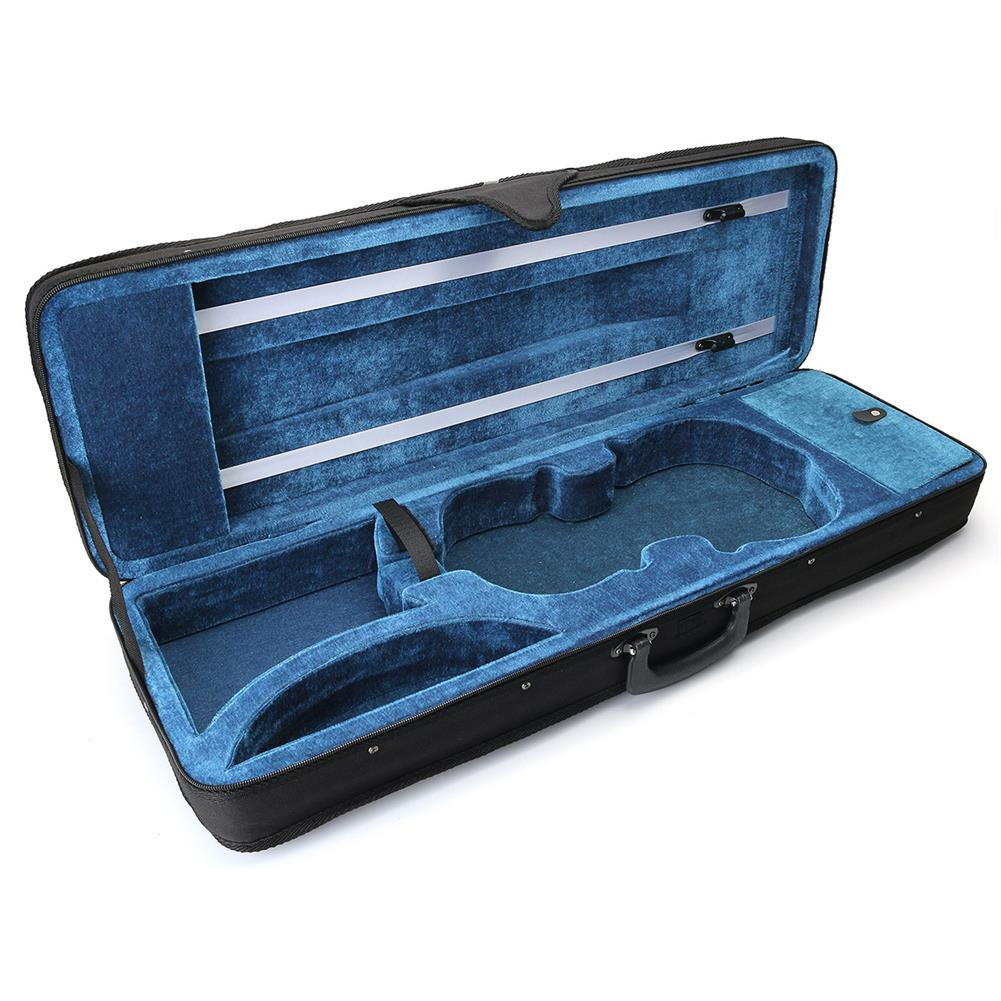 strings-accessories Violin Case Full Size 4/4 Professional Oblong Shape Cushioning Carry Box HOB1670286 1