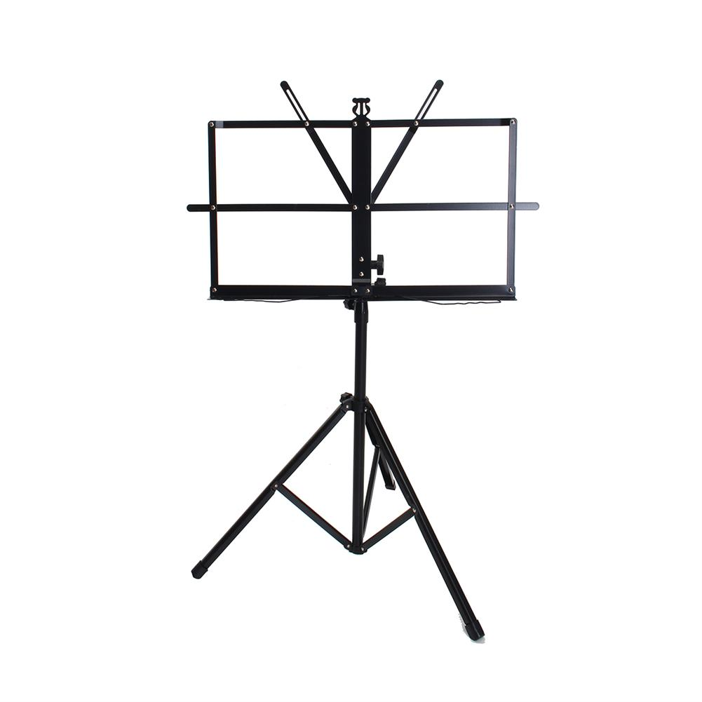 strings-accessories Adjustable Foldable Sheet Music Violin Stand Holder Tripod Base Metal with Carry Bag HOB1670304