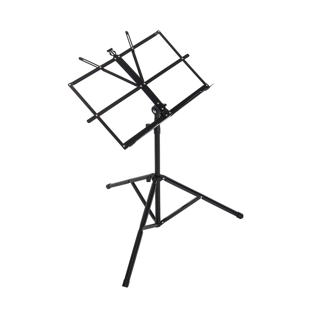 strings-accessories Adjustable Foldable Sheet Music Violin Stand Holder Tripod Base Metal with Carry Bag HOB1670304 2