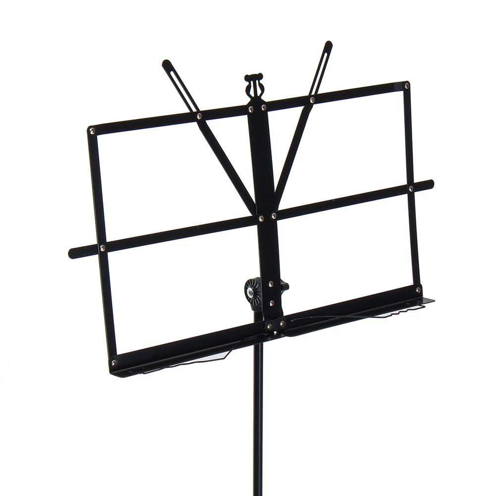 strings-accessories Adjustable Foldable Sheet Music Violin Stand Holder Tripod Base Metal with Carry Bag HOB1670304 3