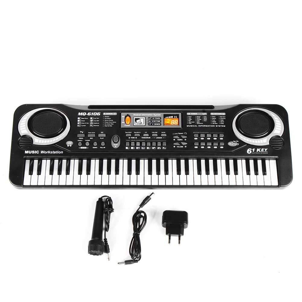 electronic-keyboards Children Kids Electronic Keyboard Electric Piano 61 Keys Musical instruments with USB + Microphone HOB1670306