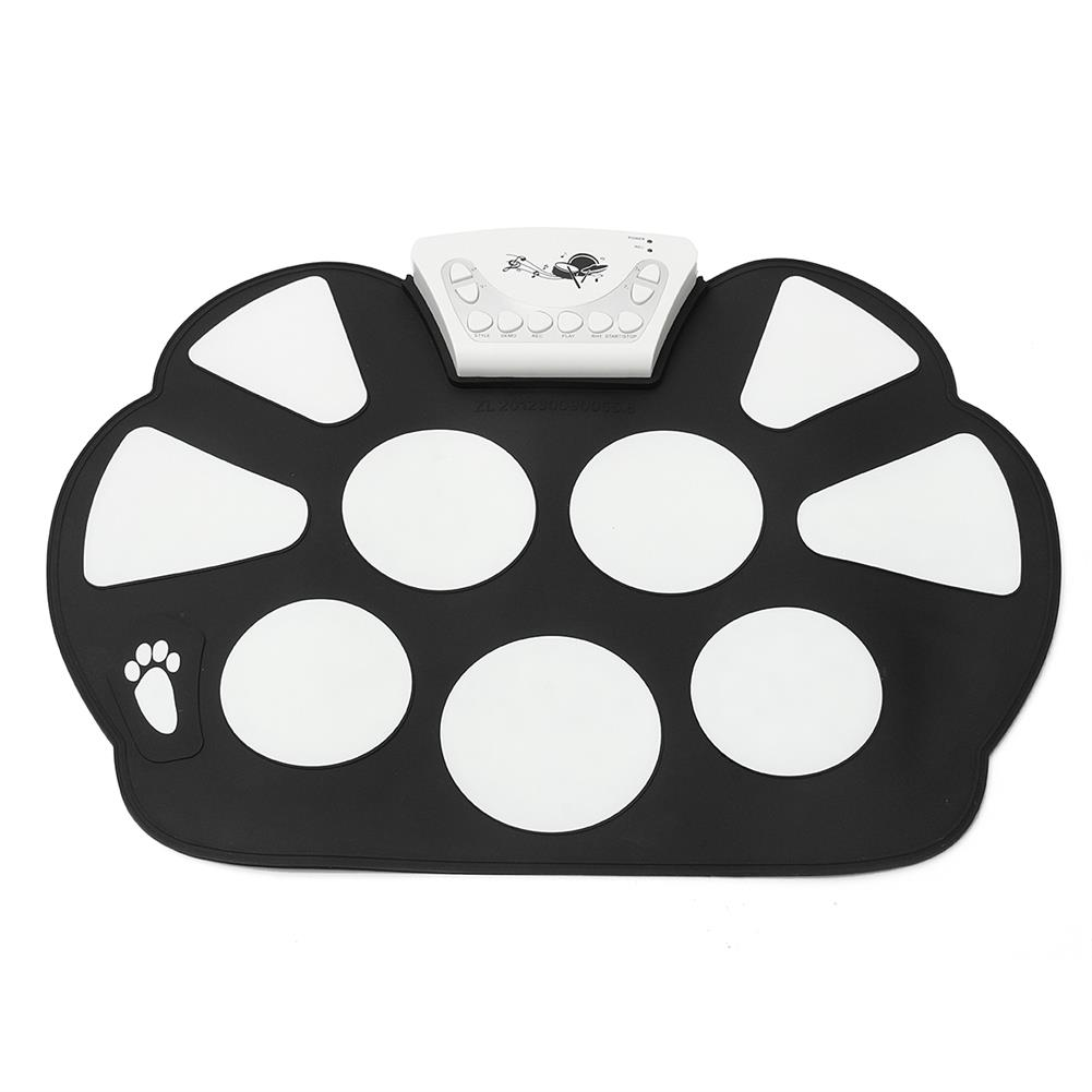electronic-drums Foldable Roll Up USB Electronic Drum 9 Silicon Pad Kit Silicon w/ Stick Kid Gift HOB1670318 1
