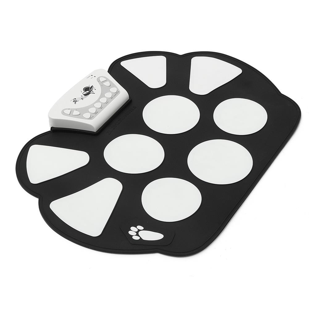 electronic-drums Foldable Roll Up USB Electronic Drum 9 Silicon Pad Kit Silicon w/ Stick Kid Gift HOB1670318 2