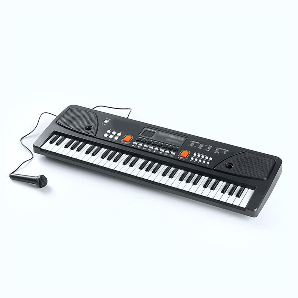electronic-keyboards 61 Keys Mini Electronic Keyboard Piano Set Microphone Sing Gift for Kids Child HOB1670642