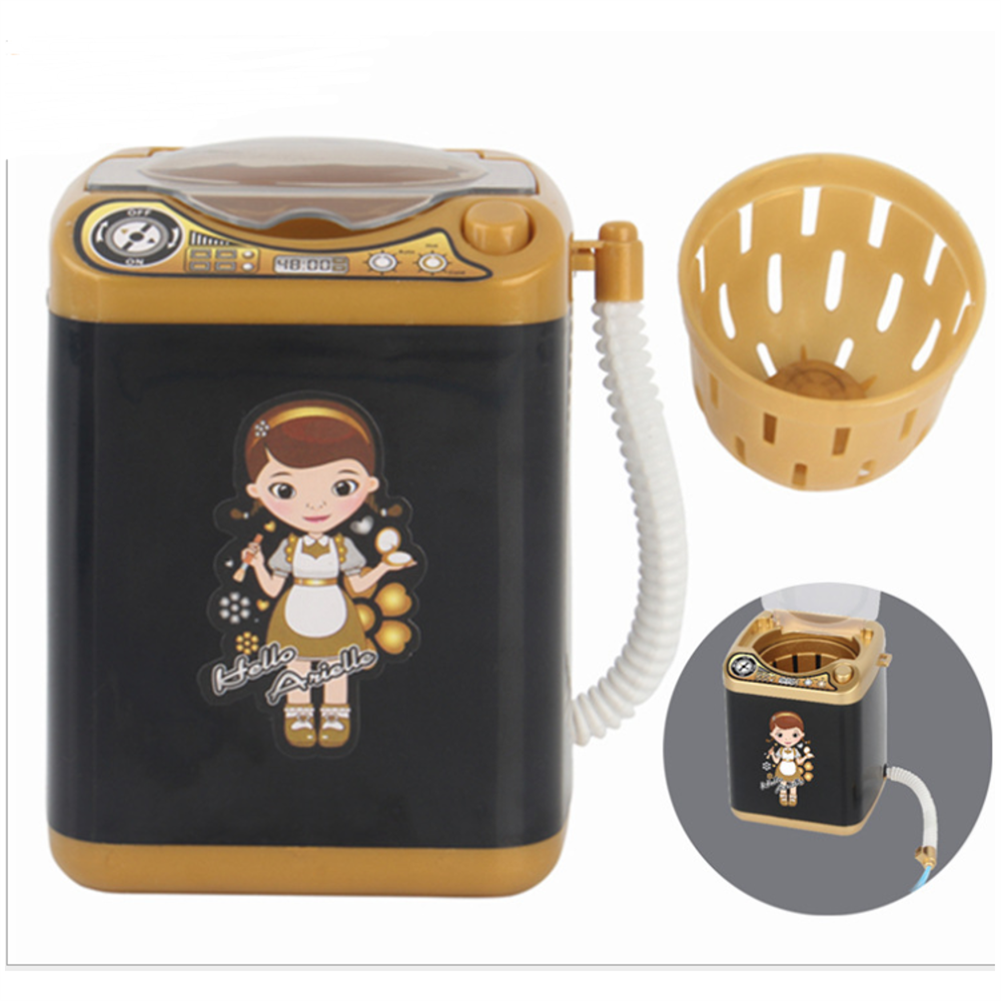 novelties Black Simulation Electric Mini Washing Machine Washable and Dehydrated Play Children's indoor Toys HOB1671912