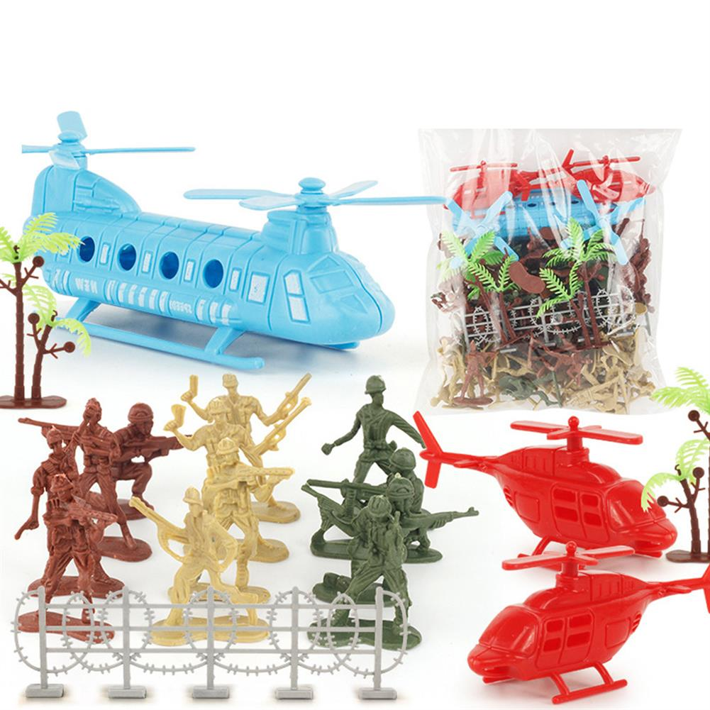 diecasts-model-toys 86Pcs PVC Military Soldier Static Diecast Model Decoration Toy Set for Kids Gift HOB1671976