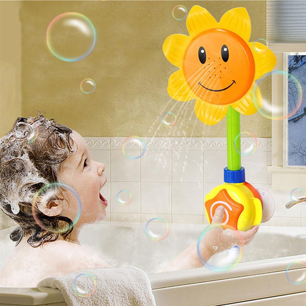 novelties Kids interactive Baby Bath Toy Sunflower Elephant Pattern Showering Novelties Toys HOB1671992 3