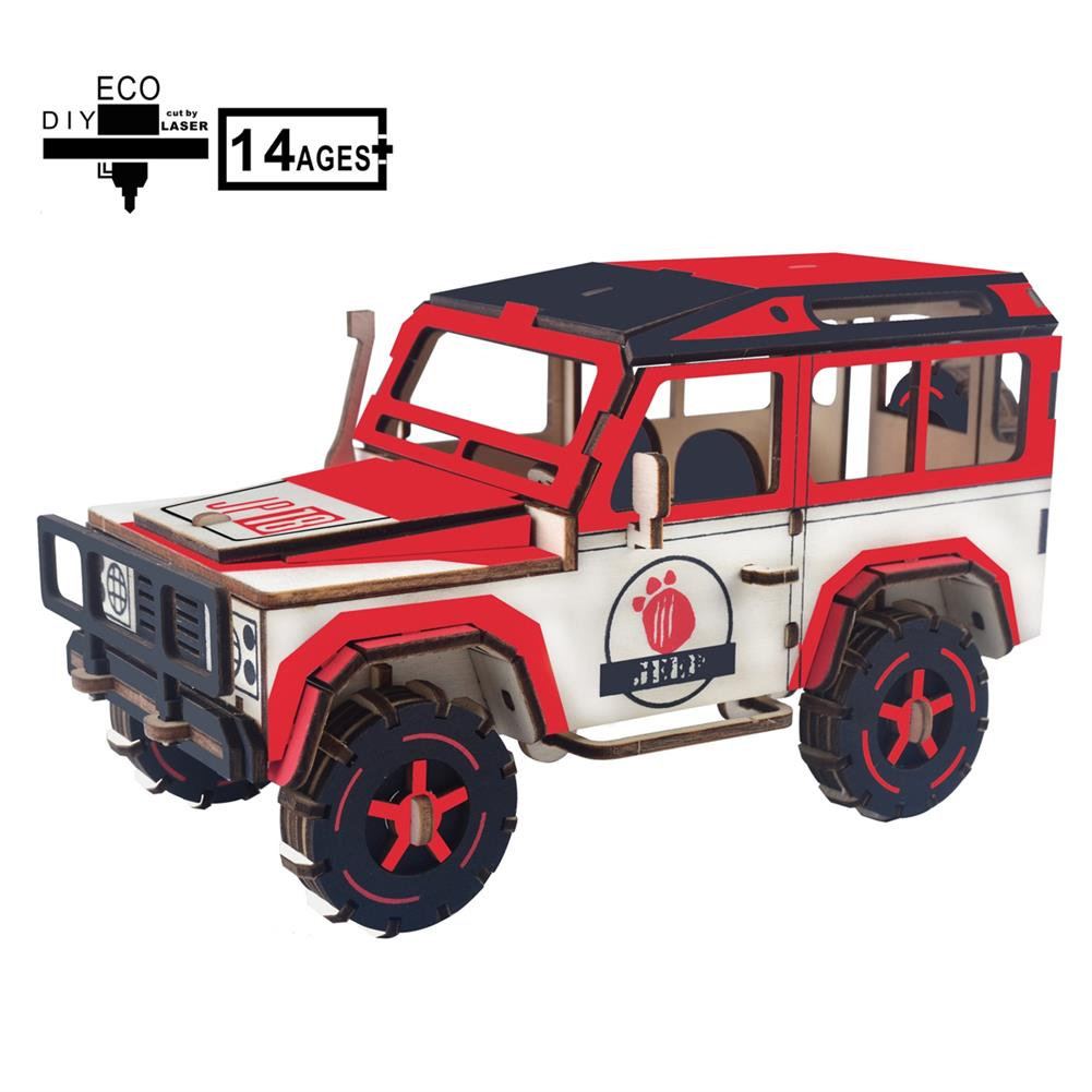 puzzle-game-toys off-road Vehicle Laser Cutting DIY Handmade 3D Wooden Puzzle Model Toys HOB1671993 1