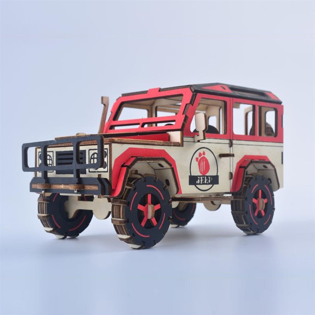 puzzle-game-toys off-road Vehicle Laser Cutting DIY Handmade 3D Wooden Puzzle Model Toys HOB1671993 2