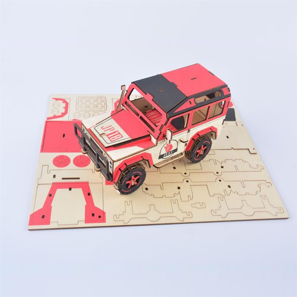 puzzle-game-toys off-road Vehicle Laser Cutting DIY Handmade 3D Wooden Puzzle Model Toys HOB1671993 3