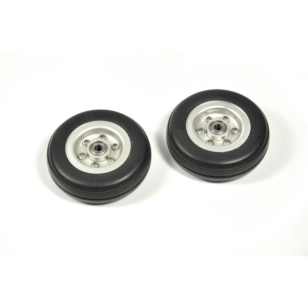 rc-airplane-parts RC Wheels 2/2.25/2.75/3/3.5/3.75/4 inch Black Rubber Tire Wheel Aluminum Hub for RC Model Plane Aircraft Fixed Wing HOB1673539