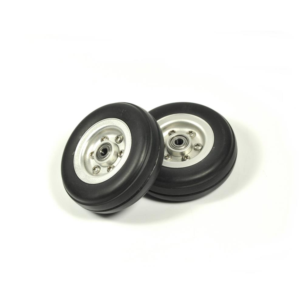 rc-airplane-parts RC Wheels 2/2.25/2.75/3/3.5/3.75/4 inch Black Rubber Tire Wheel Aluminum Hub for RC Model Plane Aircraft Fixed Wing HOB1673539 1