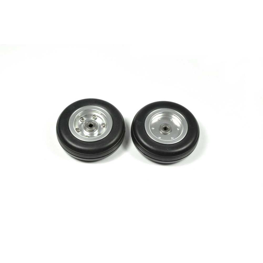 rc-airplane-parts RC Wheels 2/2.25/2.75/3/3.5/3.75/4 inch Black Rubber Tire Wheel Aluminum Hub for RC Model Plane Aircraft Fixed Wing HOB1673539 2