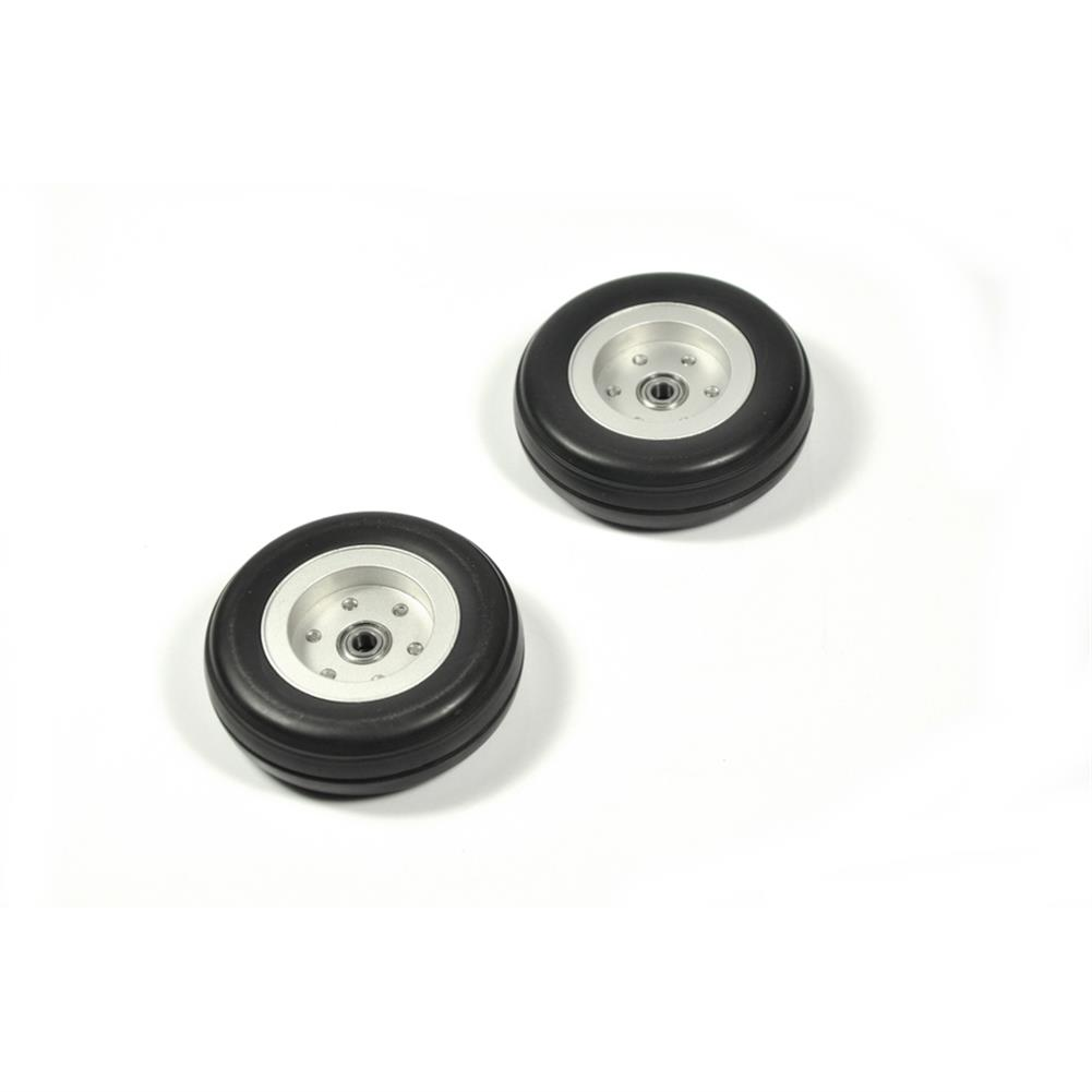 rc-airplane-parts RC Wheels 2/2.25/2.75/3/3.5/3.75/4 inch Black Rubber Tire Wheel Aluminum Hub for RC Model Plane Aircraft Fixed Wing HOB1673539 3