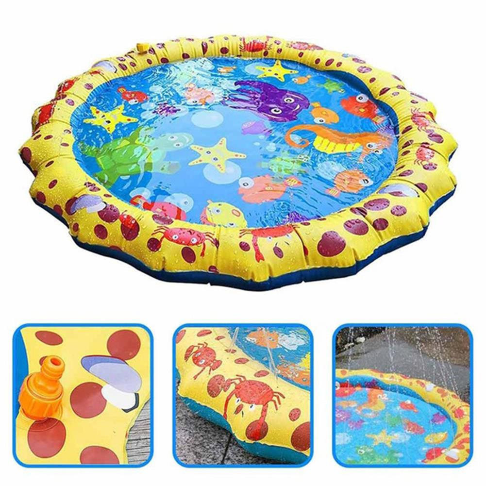 inflatable-toys Yellow Lace inflatable Water Spray Cushion inflatable Toy Lawn Beach Game Toys HOB1673924