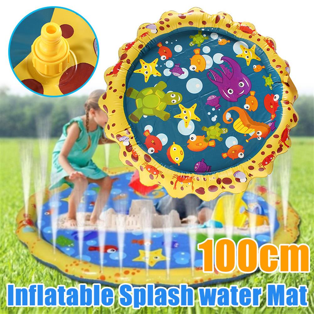 inflatable-toys Yellow Lace inflatable Water Spray Cushion inflatable Toy Lawn Beach Game Toys HOB1673924 1