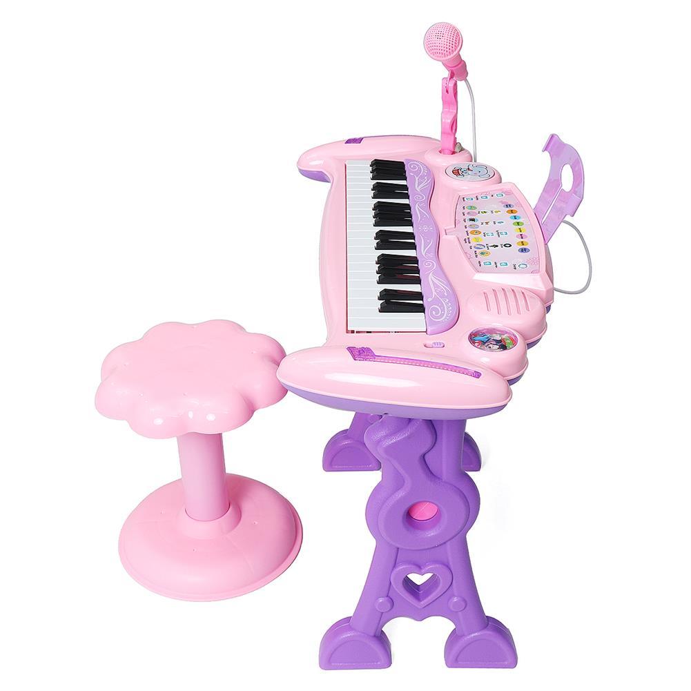 electronic-keyboards 37 Key Electronic Keyboard Kids Mini Grand + Piano Stool Microphone Musical Toys HOB1674073 1
