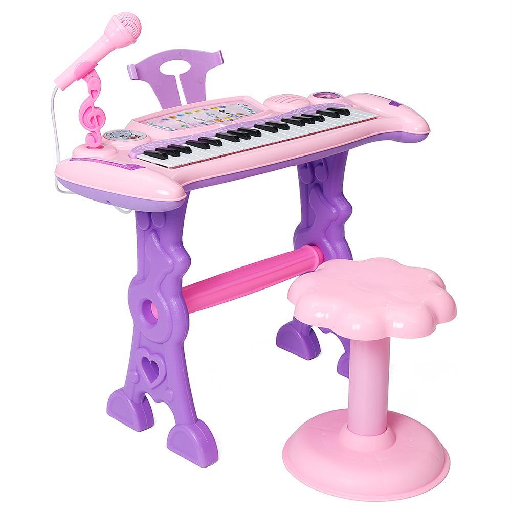 electronic-keyboards 37 Key Electronic Keyboard Kids Mini Grand + Piano Stool Microphone Musical Toys HOB1674073 2