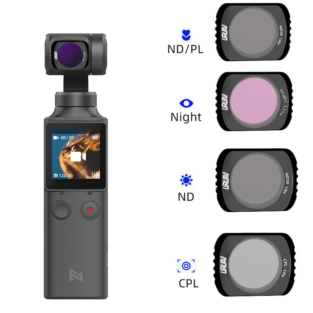 fpv-system URUAV FP-2 Camera Lens Filter ND4/ND8/ND16/ND32/CPL/STAR/NIGHT for FIMI PALM Pocket Handheld Gimbal Camera Accessories HOB1674266 1