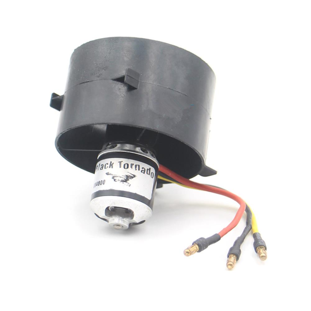 rc-airplane-parts Black Tornado 64mm Ducted Fan EDF with 3-4S KV4800 Brushless Motor for RC Airplane RC Plane RC Model Fixed-wing Spare Part HOB1674482