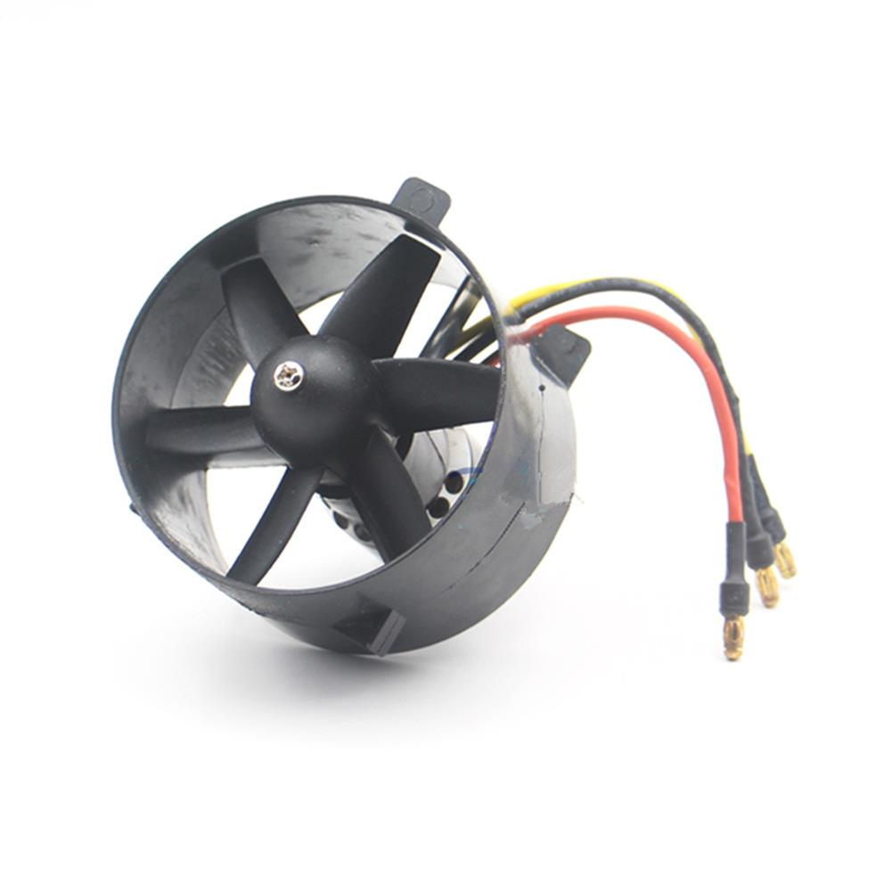 rc-airplane-parts Black Tornado 64mm Ducted Fan EDF with 3-4S KV4800 Brushless Motor for RC Airplane RC Plane RC Model Fixed-wing Spare Part HOB1674482 2