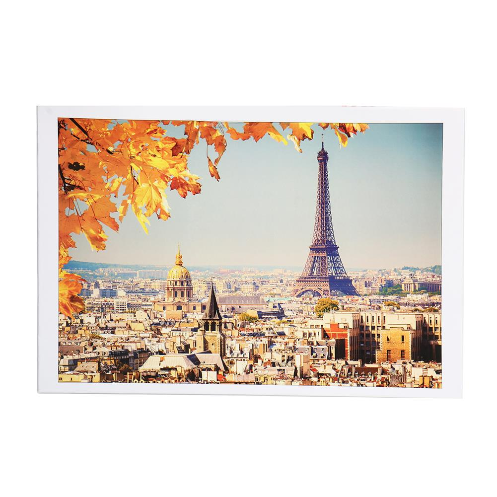 puzzle-game-toys 1000 Pieces Eiffel Tower Jigsaw Puzzle Toy DIY Assembly Paper Puzzle Building Landscape Toy HOB1674498