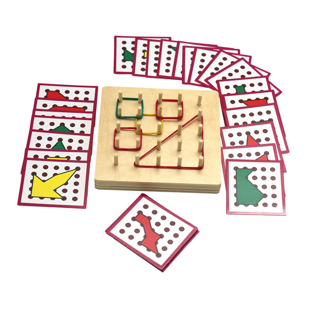 puzzle-game-toys Small Size Baby Montessori Wooden Board Geometric Shapes Educational Early Learning Toys HOB1674501