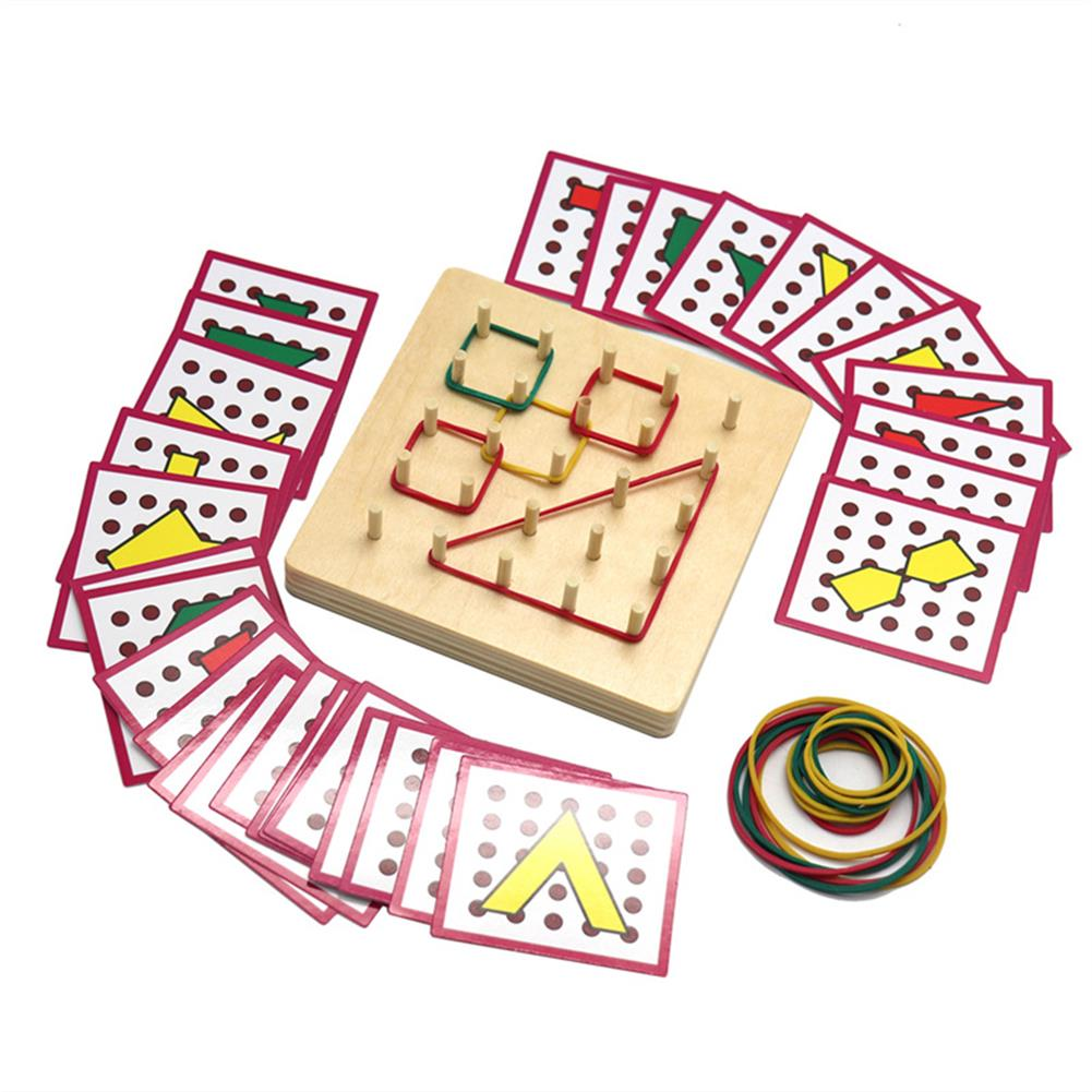 puzzle-game-toys Small Size Baby Montessori Wooden Board Geometric Shapes Educational Early Learning Toys HOB1674501 1