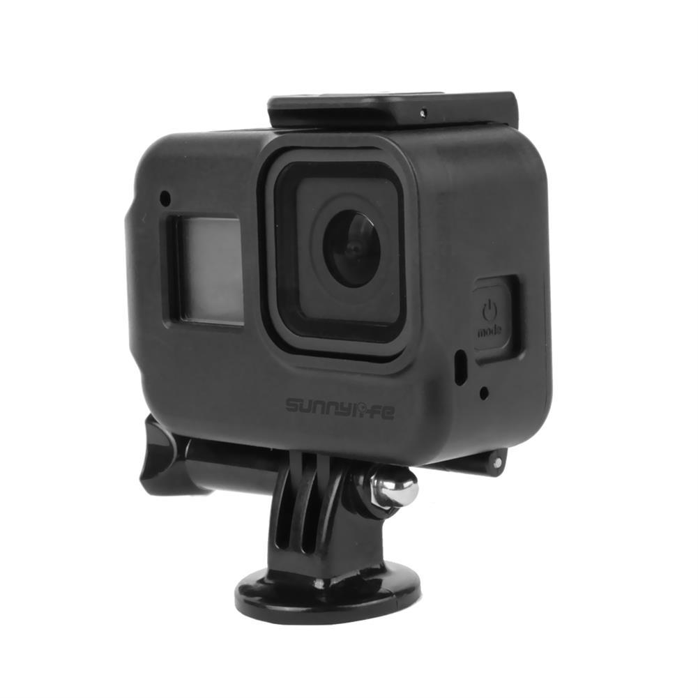 fpv-system Sunnylife Protective Case Camera Mount Shock-proof Cage Precise Hole Cover with 1/4 Screw Adapter for GoPro Hero 8 Black FPV Camera HOB1674542 1