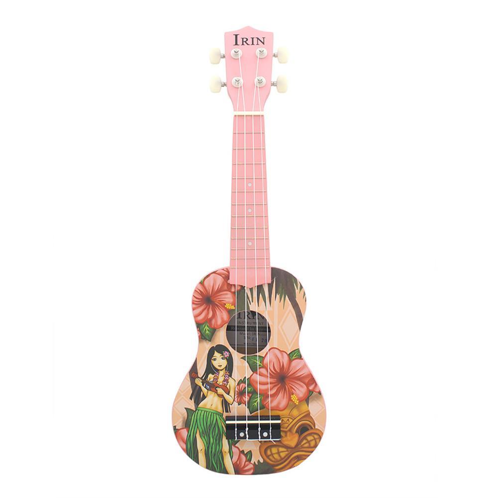 ukulele IRIN 21'' Pink Girl Mini Acoustic Guitar 4 String Ukulele Gift for Kids Beginners HOB1674873