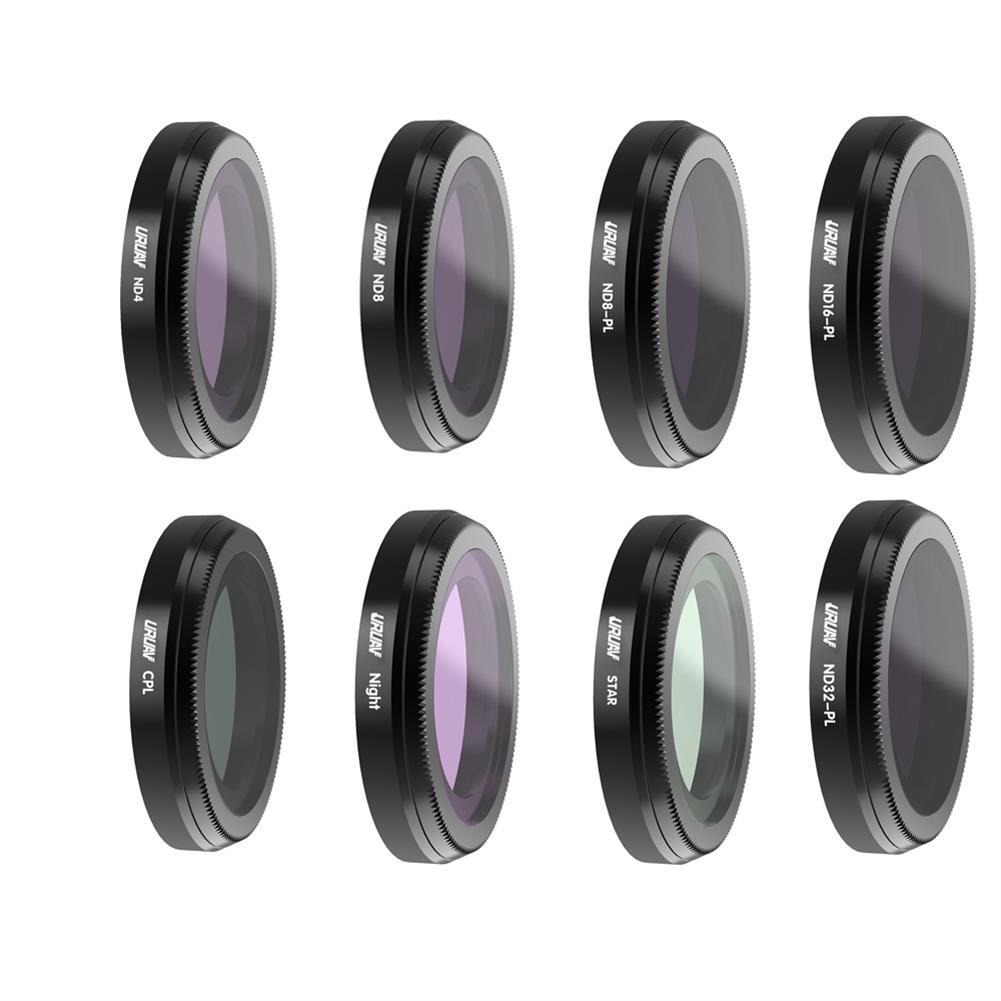 rc-quadcopter-parts URUAV Camera Lens Filter Set STAR/CPL/ND4/ND8/ND16/Night/ND8PL/ND16PL/ND32PL/ND64PL for Hubsan Zino 2 HOB1675318
