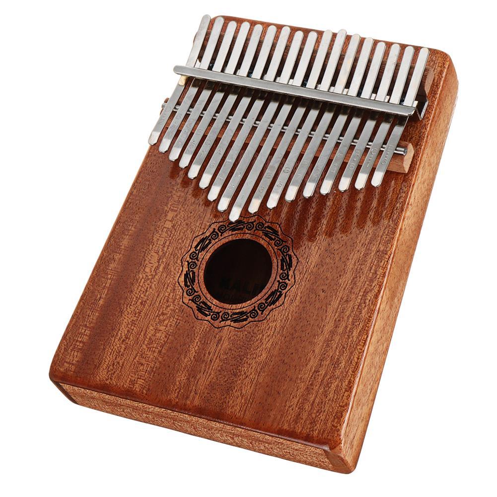 kalimba 17 Keys Kalimba High-Quality Thumb Piano Wood Mahogany Body Musical instrument with Learning Book Tune Hammer for Beginner HOB1675610 3