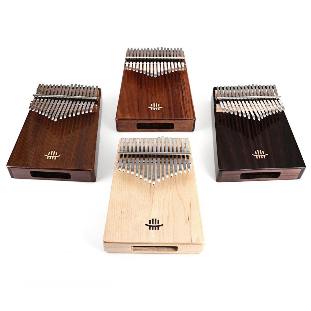 kalimba HLURU 17 Keys Wood Kalimba Bottom Hole Style Mahogany Thumb Piano Musical instrument for Beginner HOB1675646 1