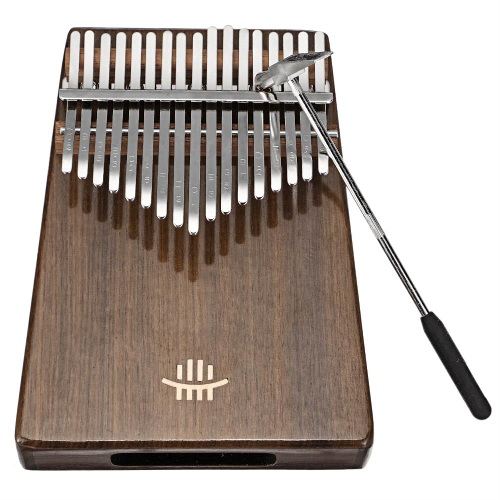 kalimba HLURU 17 Keys Wood Kalimba Bottom Hole Style Mahogany Thumb Piano Musical instrument for Beginner HOB1675646 2