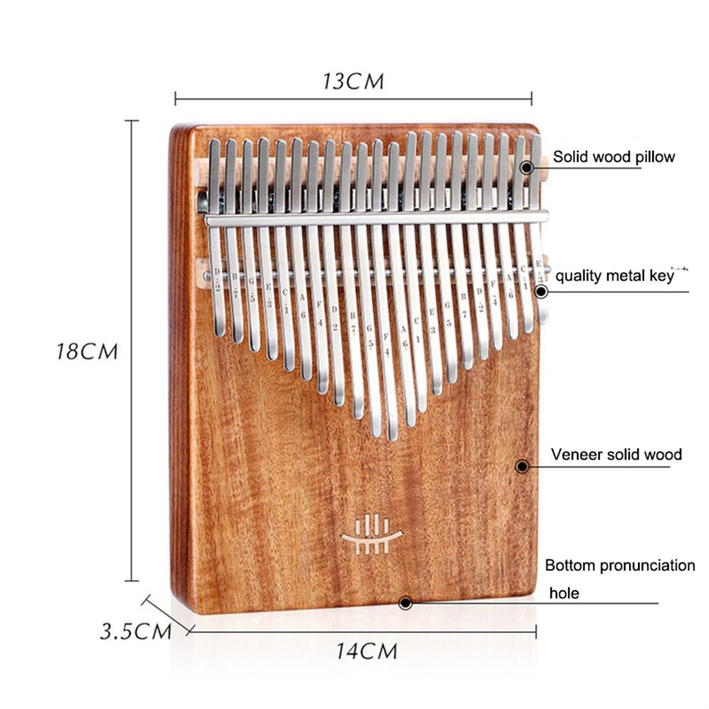 kalimba HLURU 21 Keys Thumb Piano Wooden Professional Kalimba Bottom Hole Mahogany Musical instrument for Beginner HOB1675677 1