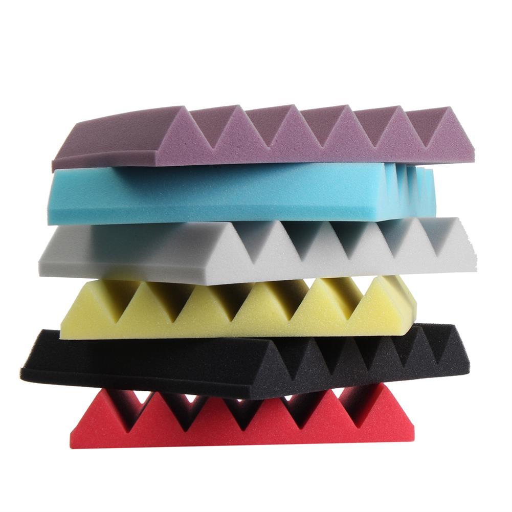 general-accessories 1PC 12''x12''x2'' Wedge Acoustic Studio Sponge Soundproof Foam Wall Tiles HOB1676581