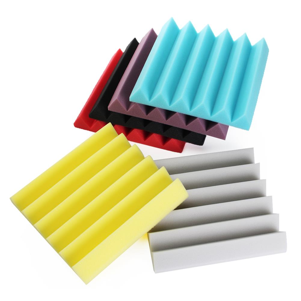 general-accessories 1PC 12''x12''x2'' Wedge Acoustic Studio Sponge Soundproof Foam Wall Tiles HOB1676581 2