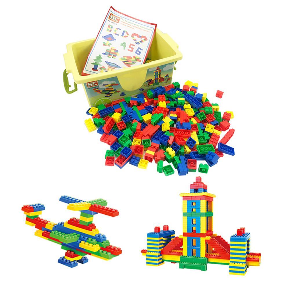 blocks-track-toys 126/178/388 Pcs DIY Assembly Multi-Shape ABS Plastic Blocks Toys for Kids Play Gift HOB1676958