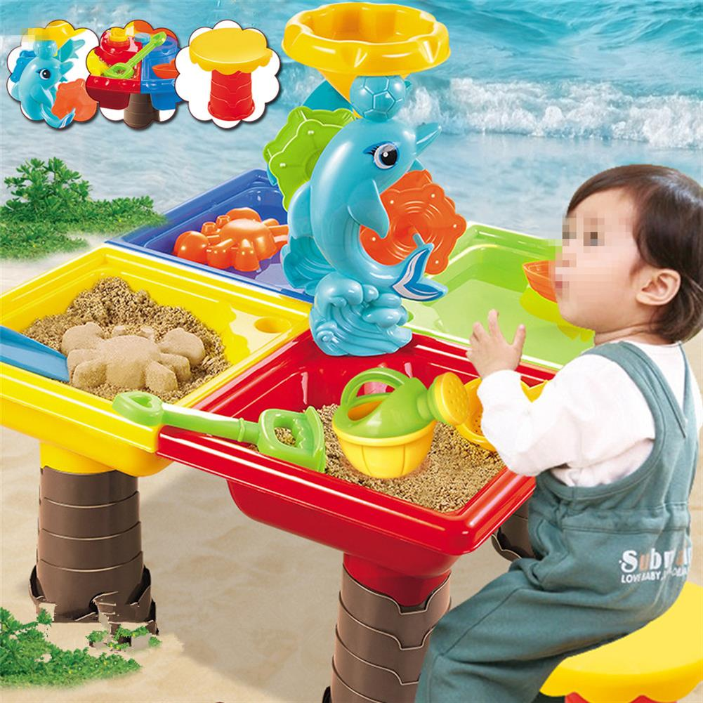 beach-play Sand And Water Table Sandpit indoor Outdoor Beach Kids Children Play Toy Set HOB1676983
