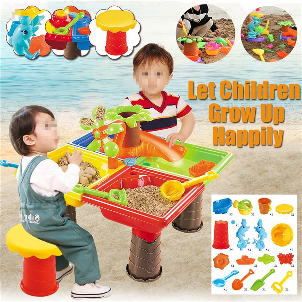 beach-play Sand And Water Table Sandpit indoor Outdoor Beach Kids Children Play Toy Set HOB1676983 1