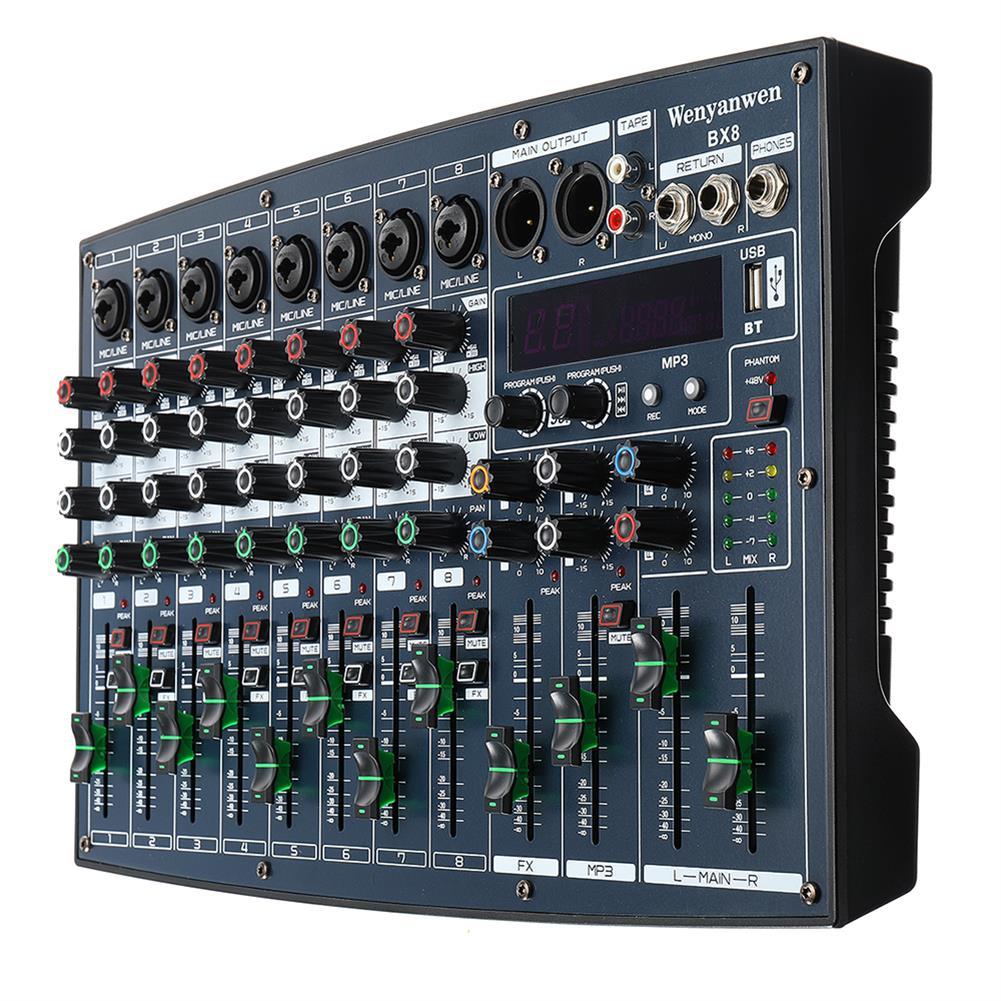 dj-mixers-equipment WENYANWEN BX6/BX8 6/8 Channel EQ 2 Bands 16 DSP Effects Audio Mixer Bluetooth Live Studio Audio Mixing Console HOB1677083 2