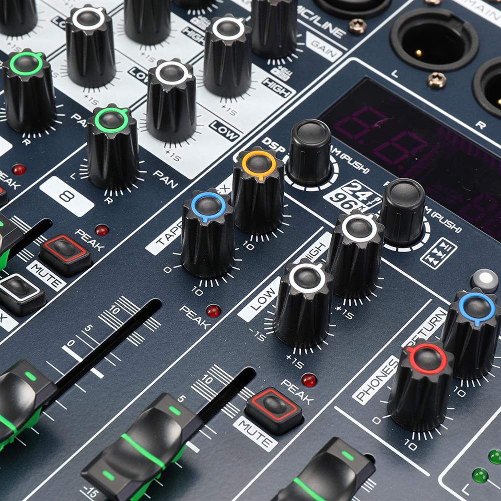 dj-mixers-equipment WENYANWEN BX6/BX8 6/8 Channel EQ 2 Bands 16 DSP Effects Audio Mixer Bluetooth Live Studio Audio Mixing Console HOB1677083 3
