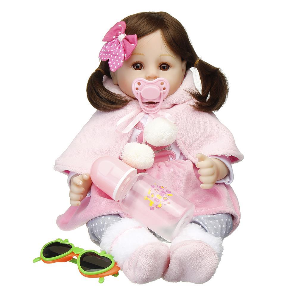 dolls-action-figure 19 inch Soft Silicone Acrylic Handmade Lifelike Cute Reborn Realistic Baby Doll Toy HOB1678186