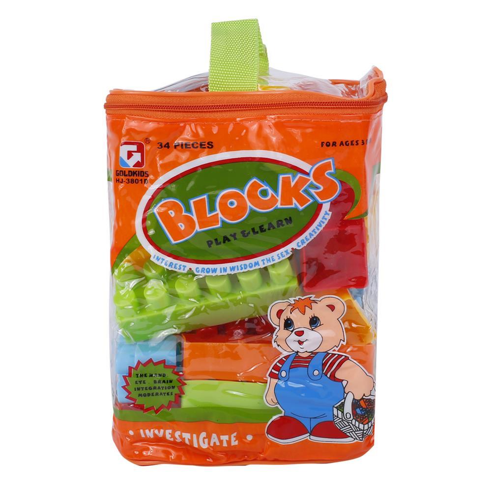 blocks-track-toys Goldkids HJ-3801D 34PCS Multi-style DIY Assembly Play & Learning Blocks Toys for Kids Gift HOB1678188 2