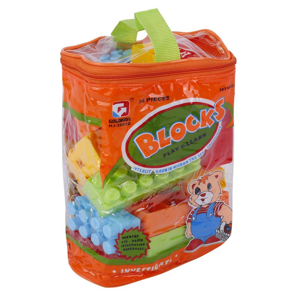 blocks-track-toys Goldkids HJ-3801D 34PCS Multi-style DIY Assembly Play & Learning Blocks Toys for Kids Gift HOB1678188 3